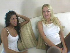 Blonde and her dark haired hot ally