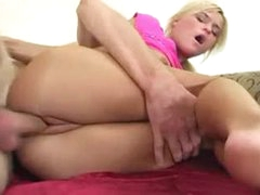 Pleasing small blonde girl pumped in the cunt