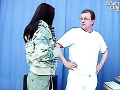 Sara gyno exam including cookie speculums exam and cookie enema