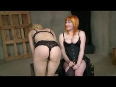 Lesbian Flogging And Strap On