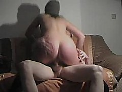 This german fuck slut rides cock, sucks dick, and acquires slammed doggystyle and acquires a cum blast on her ass!!