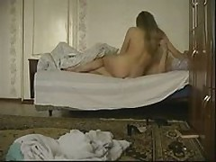 Horny blonde chick joins her boyfriend in the bed to have a wild fuck session with him. She greedily sucks his piston then gets fiercely slammed in every position.