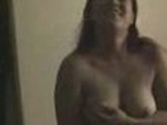 Insatiable and wild, this chubby honey loses any control when sees home camera in her lover's arms. This babe exposes large boobs and eats pecker.