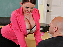 Johnny's recent substitute teacher is one hawt large-titted cutie... That Babe has Johnny daydreaming about a sexy fuck session in the class!!! Turns out poor Johnny wasn't dreaming entirely after all...