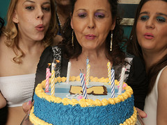 its an old and youthful lesbo birthday party