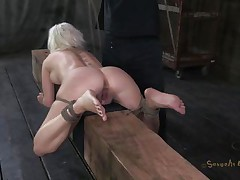 Pretty bitch Cherry is tied up on a wooden barn and an executor comes from behind and fucks her sexy ass deep. She being treated like a piece of meat, exactly the way she likes it. Surely that fucking was just for warming up, much more await this cutie. Stay tuned and find out what!