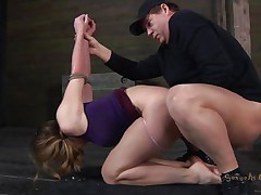 Now isn't Chanel a pretty girl? She has this sexy mouth with pink juicy lips and a voluptuous body that deserves a good hard fuck. The executor is fucking this bitch from behind hard and merciless and she moans with ecstasy. Chanel adores his hard cock but does she feels the same about his sperm?