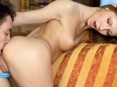 Hardcore pounding of sweet hottie's taut anal tunnel