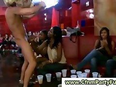 Hurning ladies seduced by stripper