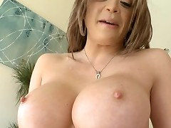 Horny chick with good breasts can't live without to be double permeated