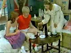 Brother&,#039,s ally and girlfriend playing to the doctor when mom  comes-Retro