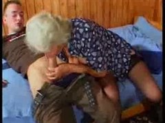 Breasty German Granny fucks young Guy