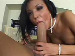 Filthy dark brown slut has such gaping holes and she challenges any man...