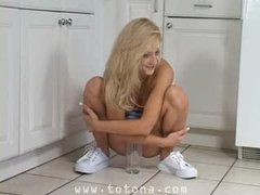 Piss: Ember Blonde Teen Model - with superbody