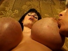 Huge melons are bouncing everywhere as these 3 voluptuous gals...