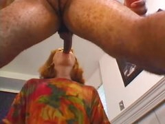 Mature redhead loves this fresh black cock