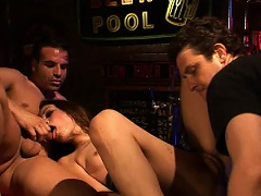 It may be closing time, but Amber Rayne is about to get her pink...
