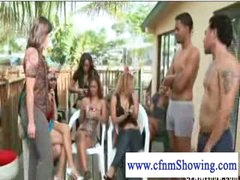 Cfnm girls trying out cockrings on guys