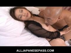 Breasty japanese babe natsumi mitsu trades head and gets nailed